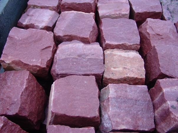 Cobbles crimson quartzite / Брусчатка малиновый кварцит